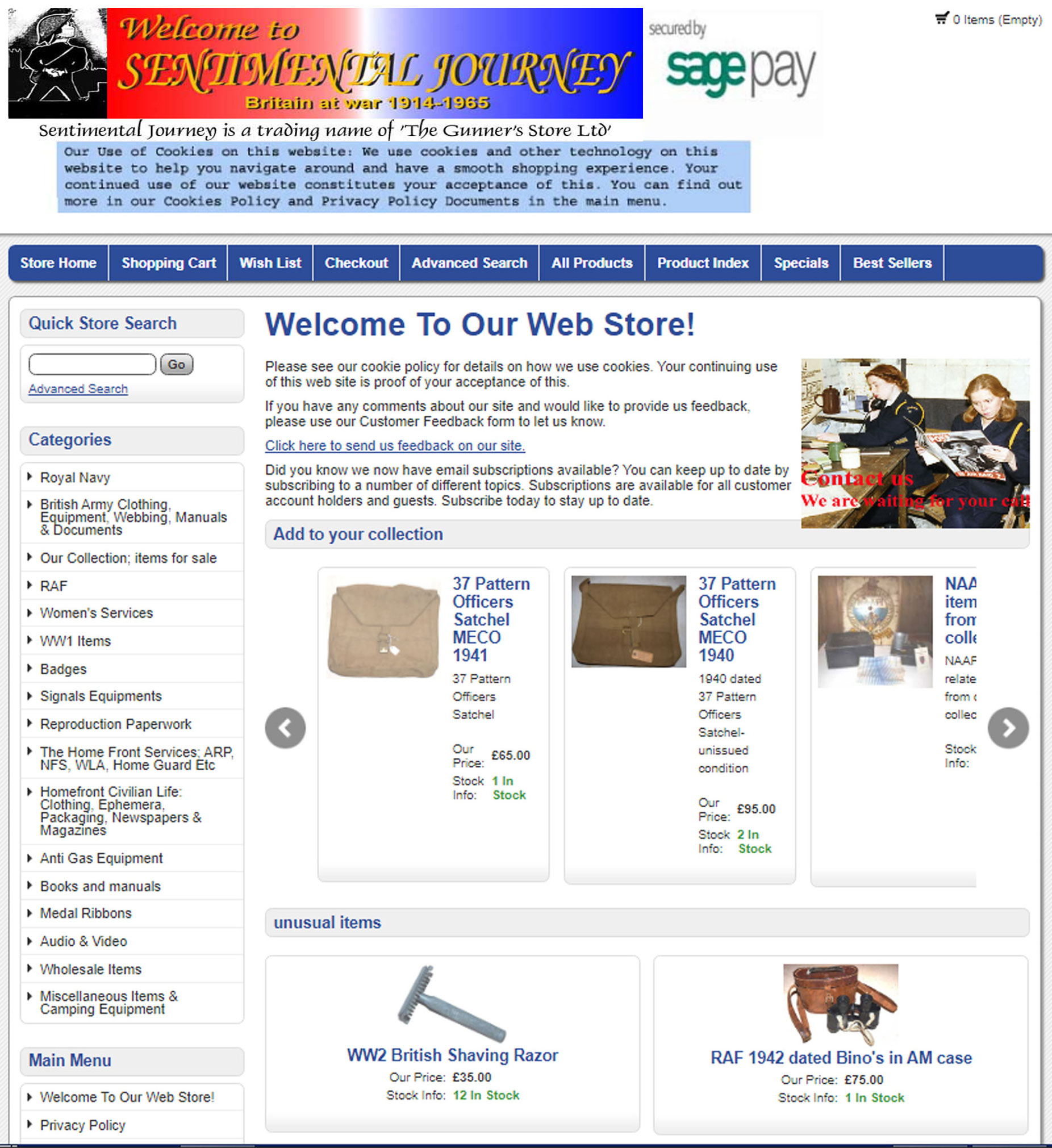 Web shop home page image, click to enter shop